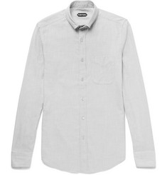 TOM FORD Button-Down Collar Cotton-Blend Twill Shirt