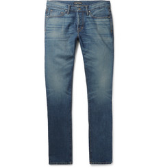 TOM FORD - Slim-Fit Washed-Denim Jeans