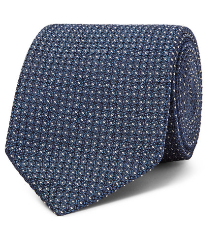 8cm Embroidered Silk-blend Twill Tie Alexander McQueen 2oKBT9a