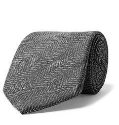 TOM FORD - 8cm Herringbone Mohair and Wool-Blend Tie