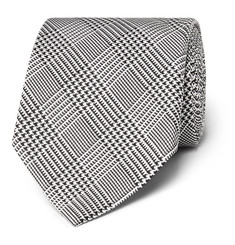TOM FORD - 8cm Prince of Wales Checked Silk Tie
