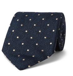 TOM FORD 8cm Polka-Dot Silk and Wool-Blend Tie