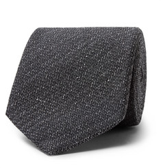 TOM FORD - 8cm Mélange Silk and Wool-Blend Tie