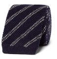 TOM FORD - 7.5cm Striped Knitted Cashmere Tie