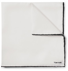 TOM FORD - Contrast-Trimmed Silk Pocket Square