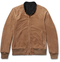 Connolly Reversible Suede and Nylon Blouson Jacket