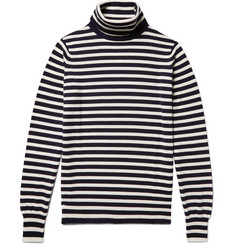 Connolly Riviera Striped Cashmere Rollneck Sweater
