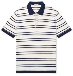 Connolly - Riviera Slim-Fit Striped Knitted Cotton Polo Shirt