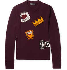 Dolce & Gabbana - Crochet-Embellished Virgin Wool Sweater