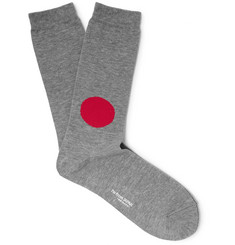 Blue Blue Japan Intarsia Cotton-Blend Socks
