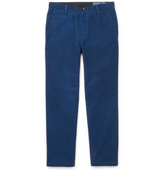 Blue Blue Japan Cropped Cotton Trousers