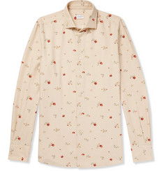 Incotex Ween Slim-Fit Floral-Print Cotton and Wool-Blend Shirt