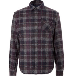 Aztech Mountain - Lodge Peak Checked Wool-Blend Flannel and Quilted Shell Overshirt