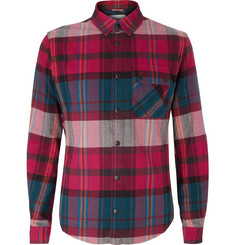 Aztech Mountain Lodge Peak Checked Brushed Cotton-Flannel Shirt