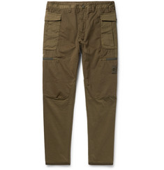Stone Island Slim-Fit Brushed-Cotton Cargo Trousers