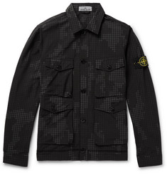 Stone Island - Printed Cotton-Blend Ripstop Shirt Jacket