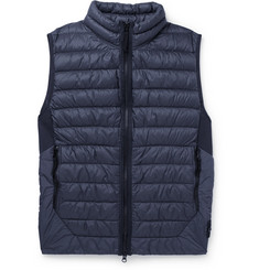 Stone Island Quilted Coated Garment-Dyed Shell Down Gilet