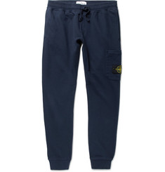 Stone Island Tapered Fleece-Back Cotton-Jersey Sweatpants