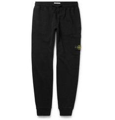 Stone Island Slim-Fit Tapered Fleece-Back Cotton-Jersey Sweatpants