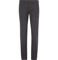 Incotex Slim-Fit Birdseye Cotton Trousers