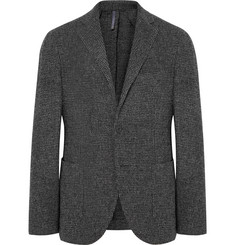 Incotex Charcoal Slim-Fit Unstructured Puppytooth Wool-Blend Blazer