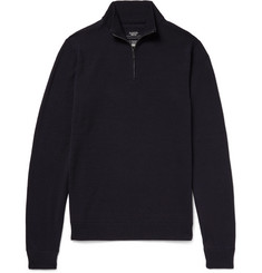 Incotex Virgin Wool Half-Zip Sweater