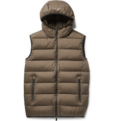 Herno Laminar Igloo Waterproof Quilted Ripstop Hooded Down Gilet