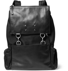 Maison Margiela Leather and Canvas Backpack
