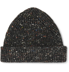 Maison Margiela Ribbed Mélange Wool, Alpaca and Silk-Blend Beanie
