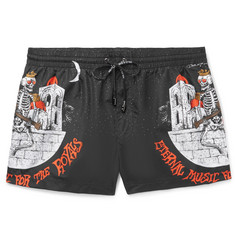 Dolce & Gabbana - Slim-Fit Short-Length Printed Swim Shorts
