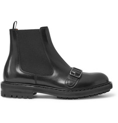 Alexander McQueen Buckle-Detailed Leather Chelsea Boots
