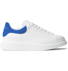 Alexander McQueen Larry Exaggerated-Sole Suede-Trimmed Leather Sneakers