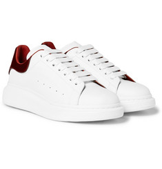 Alexander McQueen - Larry Exaggerated-Sole Leather Sneaker