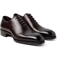 TOM FORD - Gianni Whole-Cut Burnished-Leather Oxford Shoes