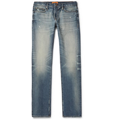 FRAME + Ben Gorham Rodeo Distressed Denim Jeans