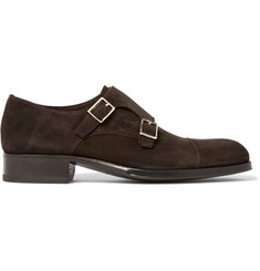 TOM FORD Edgar Suede Monk-Strap Shoes