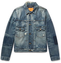 FRAME - + Ben Gorham Distressed Denim Jacket
