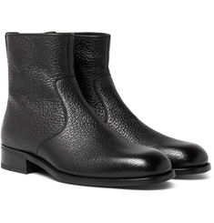 TOM FORD - Textured-Leather Boots