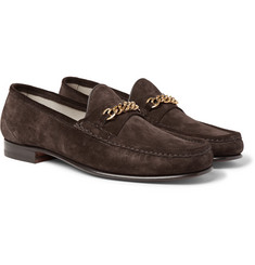 TOM FORD - Chain-Trimmed Suede Loafers