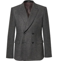 Alexander McQueen - Grey Prince of Wales Check Wool-Flannel Double-Breasted Blazer