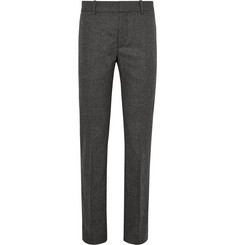 Alexander McQueen Slim-Fit Prince of Wales Checked Wool-Flannel Trousers