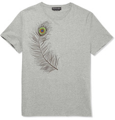 Alexander McQueen Slim-Fit Embroidered Cotton-Jersey T-Shirt