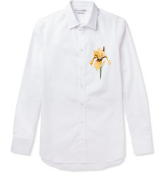 Alexander McQueen Embroidered Cotton-Poplin Shirt