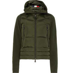 Moncler Grenoble Fleece and Quilted Shell Down Ski Jacket