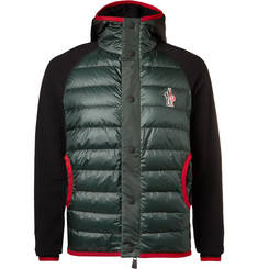 Moncler Grenoble Fleece-Panelled Padded Ski Jacket