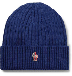 Moncler Grenoble Ribbed Virgin Wool Beanie