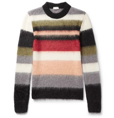 Saint Laurent - Striped Mohair-Blend Sweater