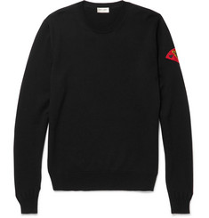 Saint Laurent Appliquéd Wool Sweater