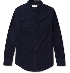 Saint Laurent Slim-Fit Cotton-Corduroy Shirt