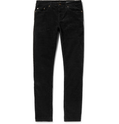 Saint Laurent Slim-Fit Stretch-Cotton Corduroy Trousers